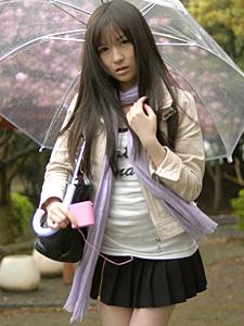 雨の日に野外で飛びっ子装着!雨とラブジュースでヌレヌレっ!