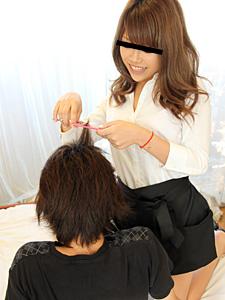 素人のお仕事 〜美人美容師さんに発情〜